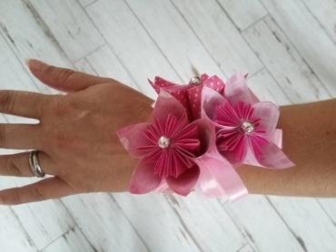 Bracelet en papier origami pour témoins de mariage fille