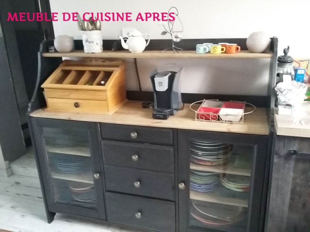 Meuble Repeint En Noir meuble de cuisine