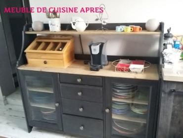 meuble de cuisine peint couleur black blue dans la catégorie nuance de noir